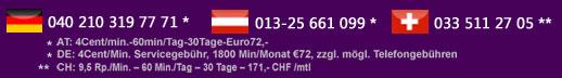 Preisauszeichnung für Telefonsex